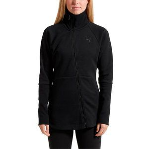 NEW Puma Yogini Jacket Black Asymmetric Zip L NWT